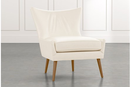Tate II White Leather Accent Chair