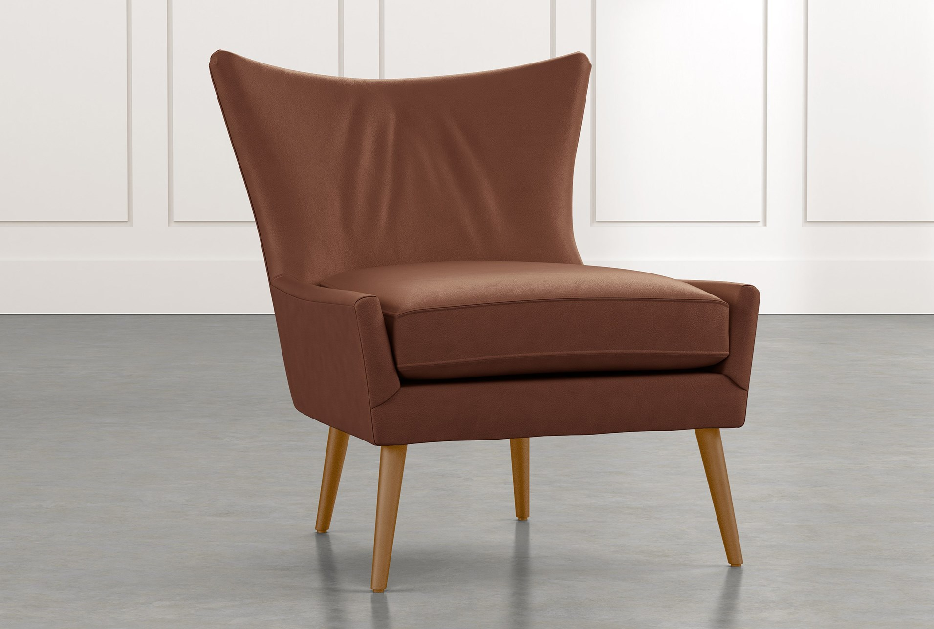 Dark Brown Accent Chairs.Tate Ii Dark Brown Leather Accent Chair