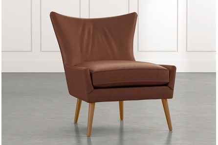 Tate II Dark Brown Leather Accent Chair