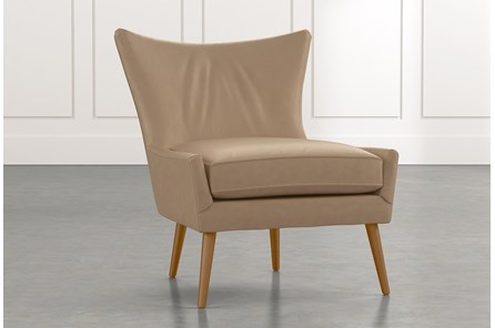 Tate II Light Brown Leather Accent Chair