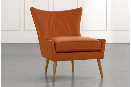 Tate II Tan Leather Accent Chair