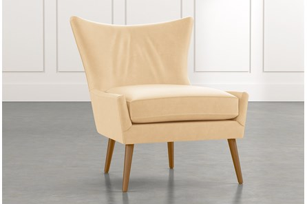 Tate II Beige Leather Accent Chair