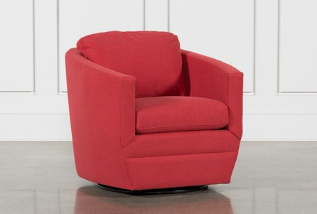 Chadwick Tomato Swivel Accent Chair