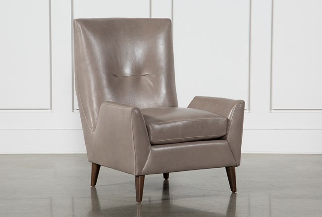 Respite Leather Accent Chair - 360