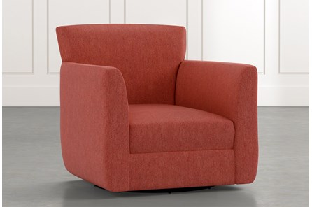 Revolve Red Swivel Accent Chair