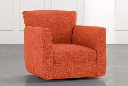 Revolve Orange Swivel Accent Chair
