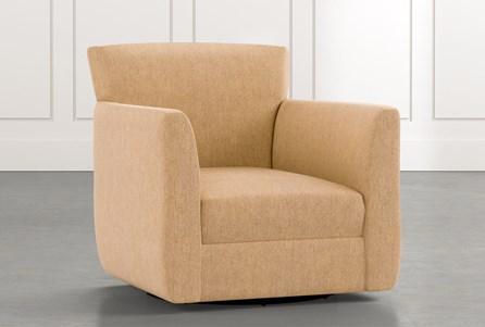 Revolve Yellow Swivel Accent Chair