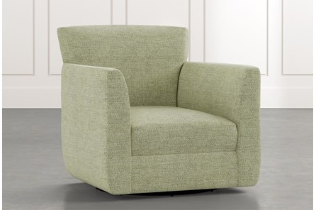 Revolve Green Swivel Accent Chair