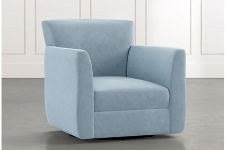 Revolve Light Blue Swivel Accent Chair