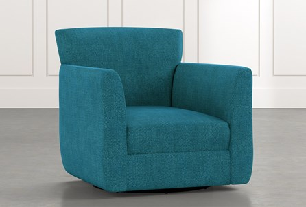 Revolve Teal Swivel Accent Chair