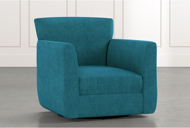 Revolve Teal Swivel Accent Chair - 360