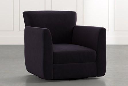 Revolve Black Swivel Accent Chair