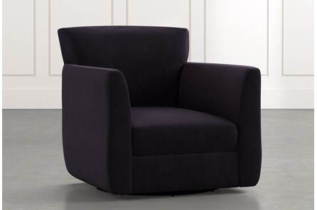 Revolve Black Swivel Accent Chair
