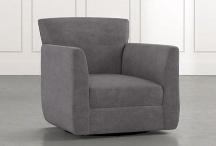 Revolve Dark Grey Swivel Accent Chair