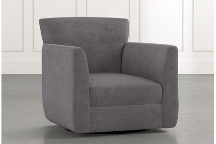 Revolve Dark Grey Swivel Accent Chair