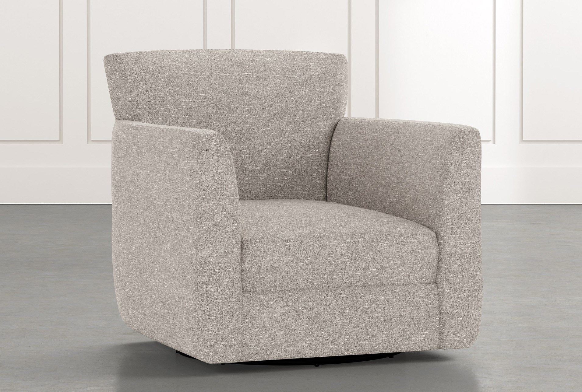 Revolve Light Grey Swivel Accent Chair Living Spaces