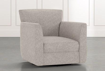 Revolve Light Grey Swivel Accent Chair