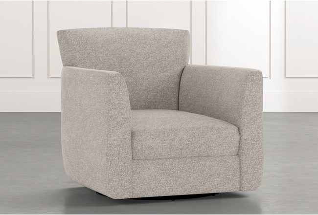 Revolve Light Grey Swivel Accent Chair - 360