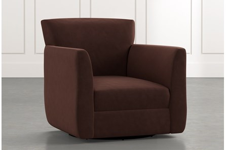 Revolve Brown Swivel Accent Chair