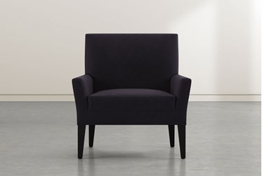Brooke II Black Velvet Accent Chair