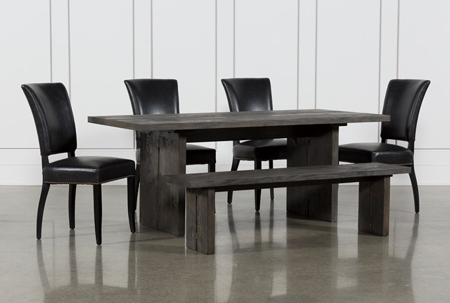 Gavin 6 Piece Dining Set With Clint Side Chairs - 360