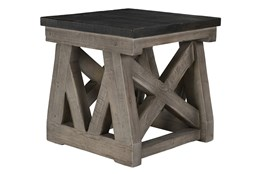 Reclaimed Grey End Table