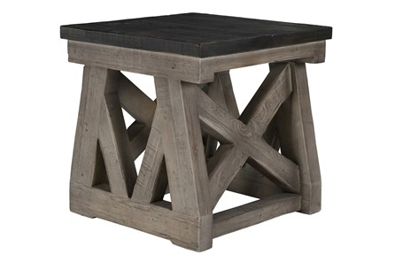 Reclaimed Grey End Table - Main
