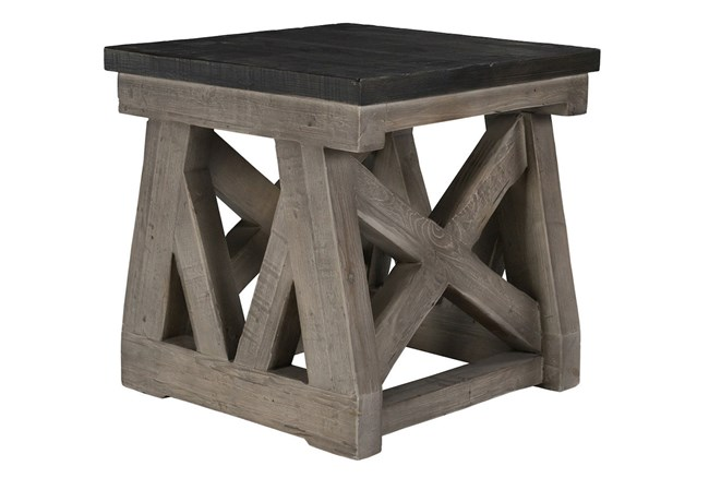 Reclaimed Grey End Table - 360