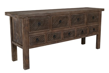 9 Drawer Reclaimed Brown Sideboard