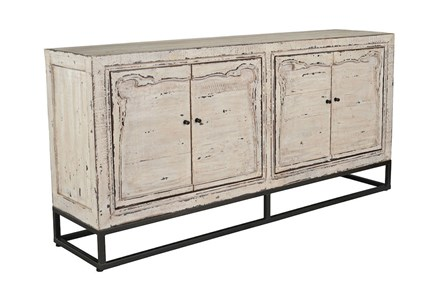 Reclaimed 4 Door White Sideboard