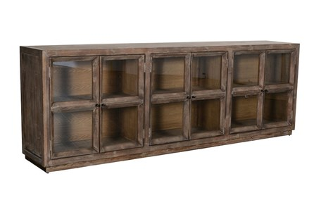 Reclaimed 6 Glass Door Brown Sideboard