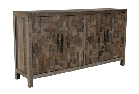 Reclaimed 4 Door Multicolor Brown Sideboard