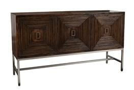 Dark Brown 3 Dimensional 3 Door Sideboard