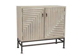 Geometrical 2 Door White Cabinet