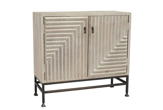 Geometrical 2 Door White Cabinet - 360