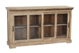Reclaimed Pine 2 Sliding Door Natural Cabinet