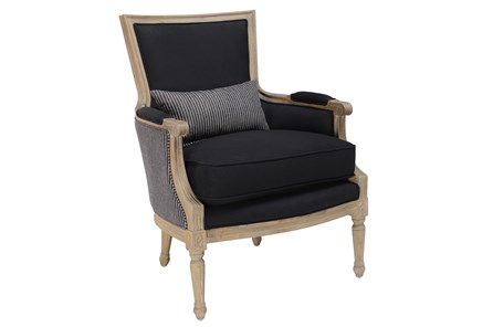 Black And Stripe Accent Chair