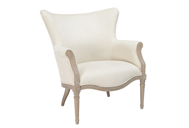 Natural Wing Tip Accent Chair - 360