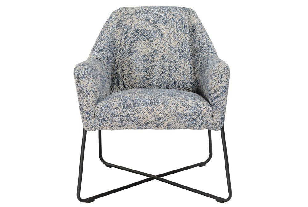 Winter Blue Print Accent Chair