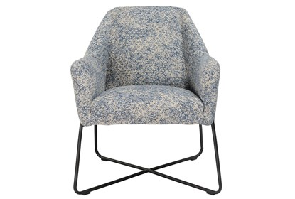 Swell Winter Blue Print Accent Chair Forskolin Free Trial Chair Design Images Forskolin Free Trialorg