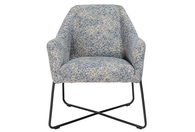 Winter Blue Print Accent Chair - 360