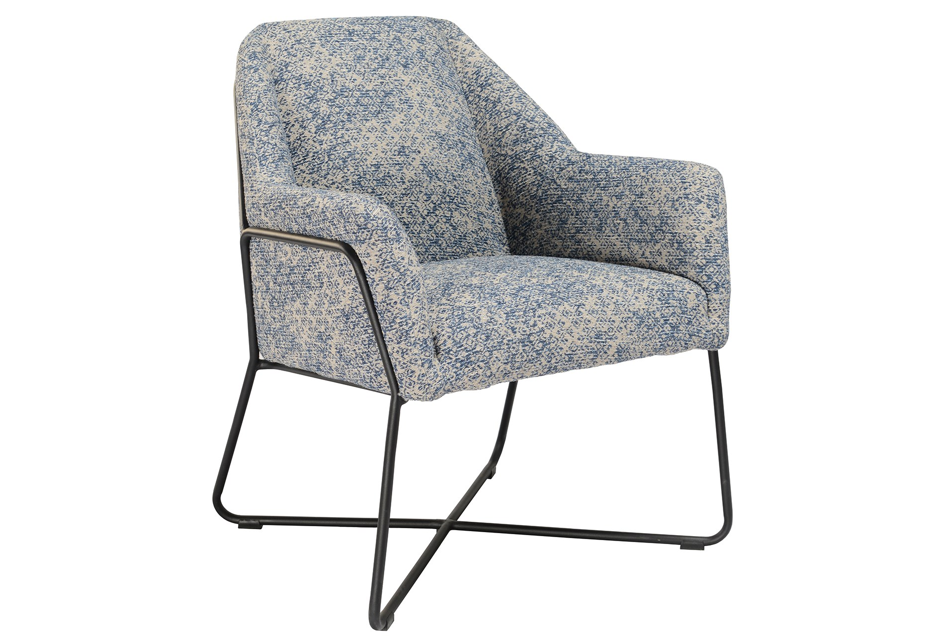 Winter Blue Print Accent Chair Living Spaces