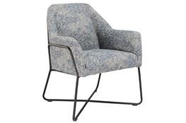 Winter Blue Print Accent Chair