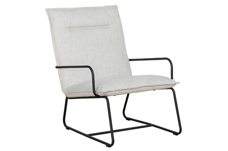 Natural Metal Accent Chair