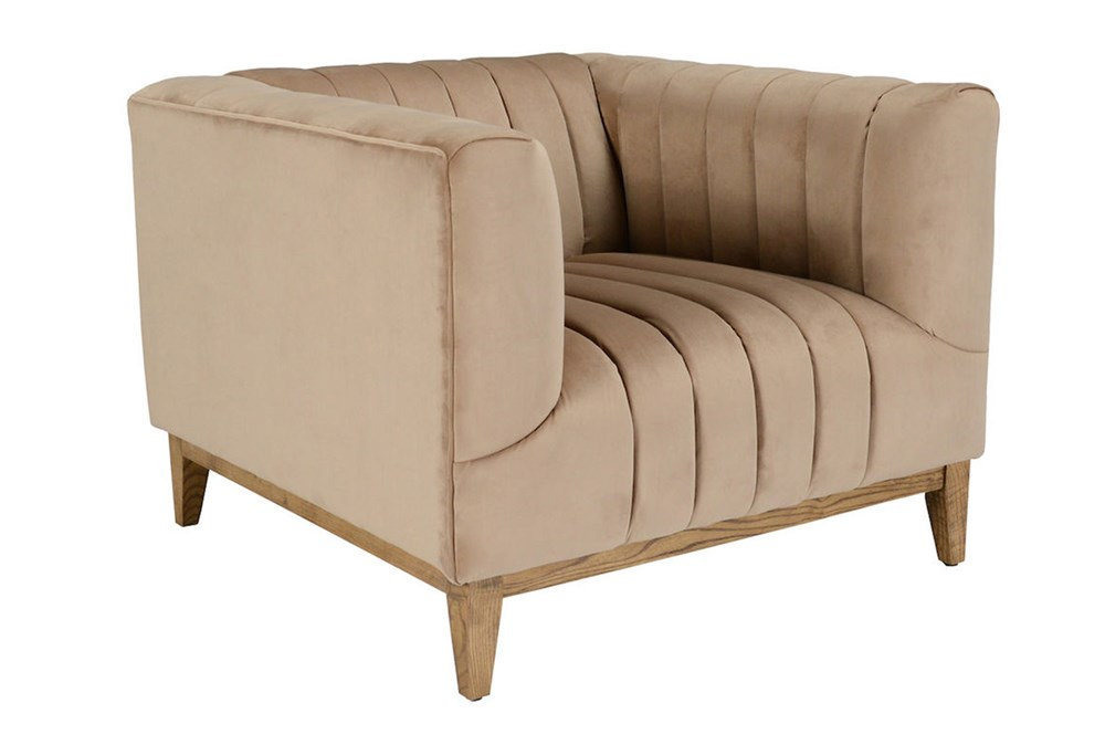 Champagne Channeled Accent Chair