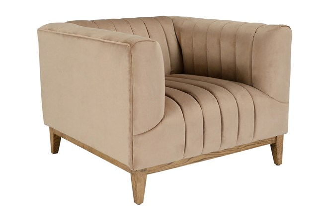 Champagne Channeled Accent Chair - 360