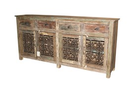 Mixed Reclaimed Multicolor Cabinet