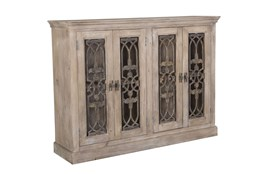 4 Door Grill Mango Wood Cabinet
