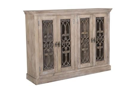 4 Door Grill Mango Wood Cabinet