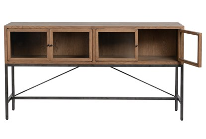 Prime Oak Wood And Iron Brown Sofa Table Gmtry Best Dining Table And Chair Ideas Images Gmtryco